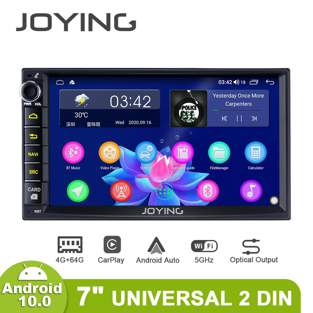 Автомагнитола 2 din, 7 дюймов, 4 + 64 ГБ, 8 ядер, поддержка 4G/Carplay/Android