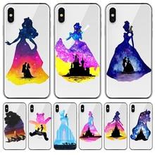 princess cartoon For iPhone X XR XS Max 5 5S SE 6 6S 7 8 11 Pro Plus phone Case Cover Funda Coque Etui capinha CAPA SHELL cute цена и фото