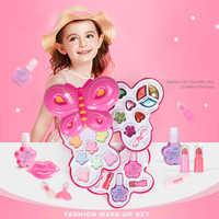 Nouveau Kit de maquillage fille mode enfants semblant jouer jouets Princesses maquillage ensemble sûr Non-toxique filles habiller cosmétique vernis à ongles