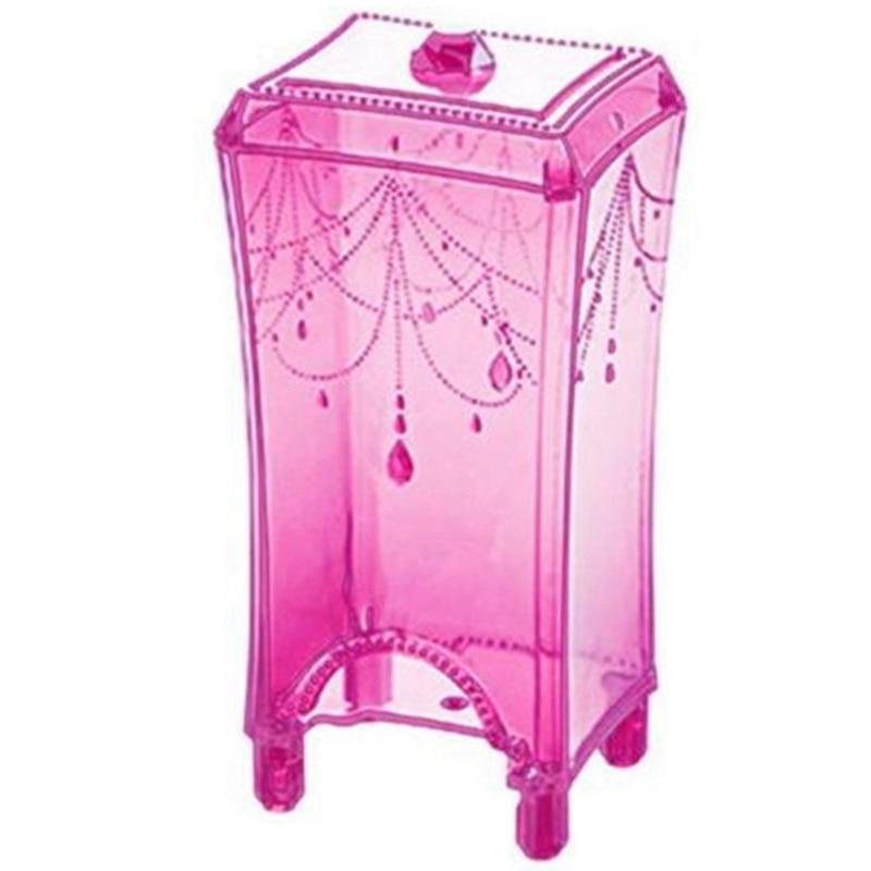 Hot Makeup Cosmetic Storage Case Practical Large Capacity Storage Holder Cotton Pad Swab Box Organizer Makeup Plastic Tool Pink