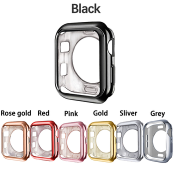 Watch cover Case for Apple 4 5 40mm 44mm Scratch Half pack electroplating TPU cases For iWatch Series 3 2 42mm 38mm - discount item  19% OFF Watches Accessories