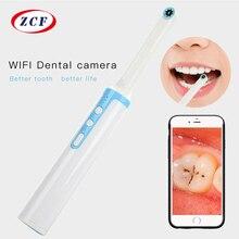 P10 WiFi Macchina Fotografica Dentale HD Intraorale Endoscopio LED USB Luce Cavo di Controllo per il Dentista Orale in tempo Reale Video Dentale strumento