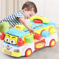 Kinder Elektrische Schule Bus Musik Auto Einschließlich 8 Spiele & Tier Anrufe Frühen Pädagogisches Spielzeug für Kinder Geschenk