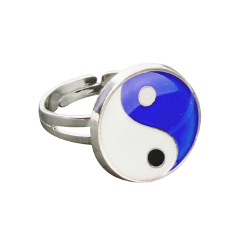 Yinyang Mood Ring Color Change Mood Ring Adjustable Emotion Feeling Changeable Temperature Ring 1PC Dropshipping 4