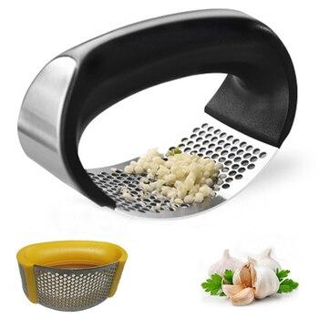 1 pièces en acier inoxydable ail Presses manuel ail hachoir hachage ail outils courbe fruits légumes outils Gadgets de cuisine