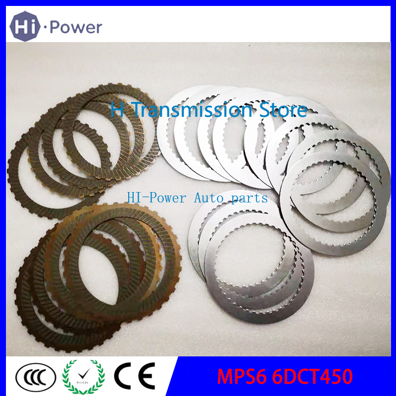 6DCT450 MPS6 Transmission Rebuild Part  Clutch Friction & Steel Plates For Ford Mondeo & For Focus 6-Speed DSG