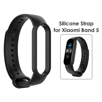 Bracelet for Xiaomi Mi Band 5/NFC Sport Strap watch Silicone Wrist Strap For xiaomi mi band 5 bracelet Soft Smart Band Wristband image