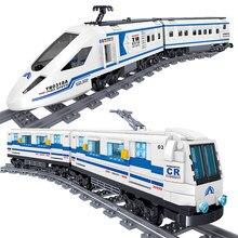 Hohe-Tech Verkehrs Zug Bausteine Eisenbahn Züge High-speed U-bahn Bricks Set Pädagogisches Spielzeug Für Kinder Kinder geschenke