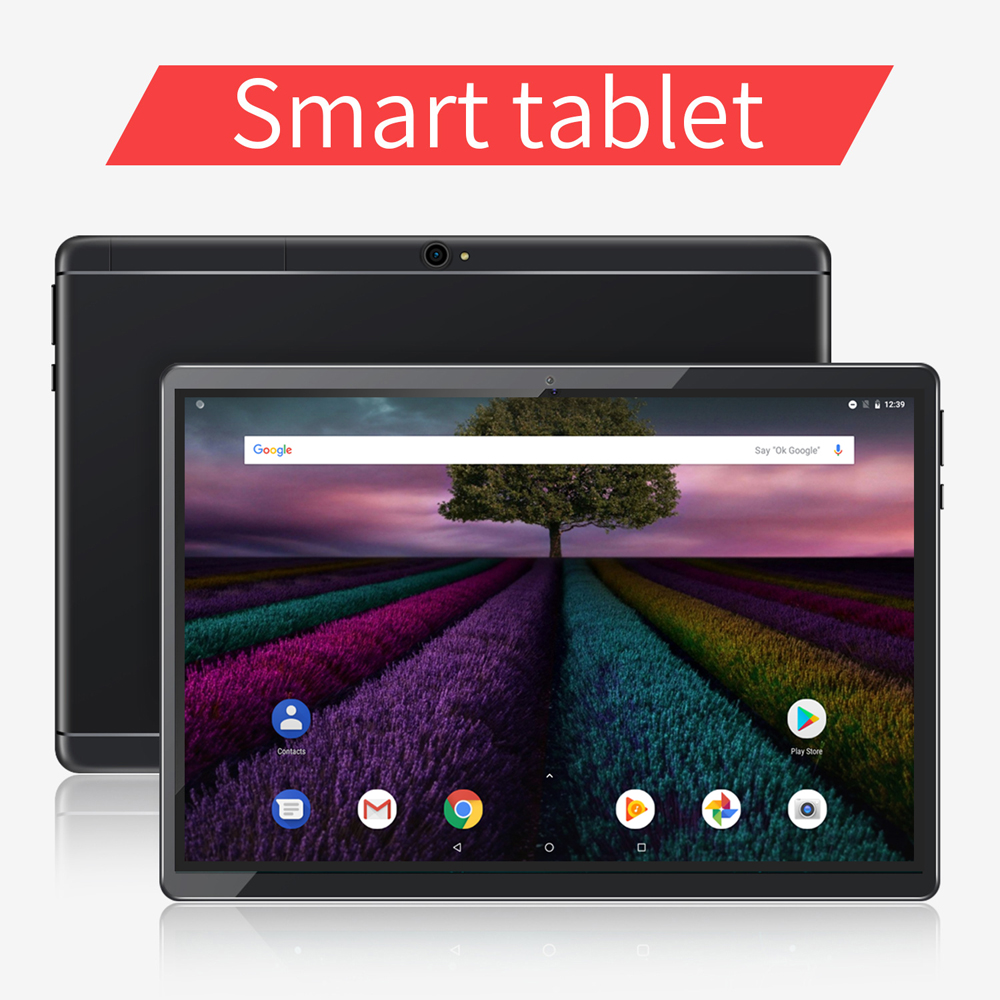 New System 10.1 Inch Tablets Certified Google Android 8.1 3G Phone Call 32GB Quad Core Wi-Fi Bluetooth Dual SIM Tablet PC