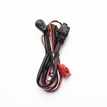 2 м Автомобильный светодиодный рабочий светильник жгут проводов вкл/выкл переключатель светодиодный переключатель противотуманной фары универсальный для длинной полосы светильник внедорожный Точечный светильник s