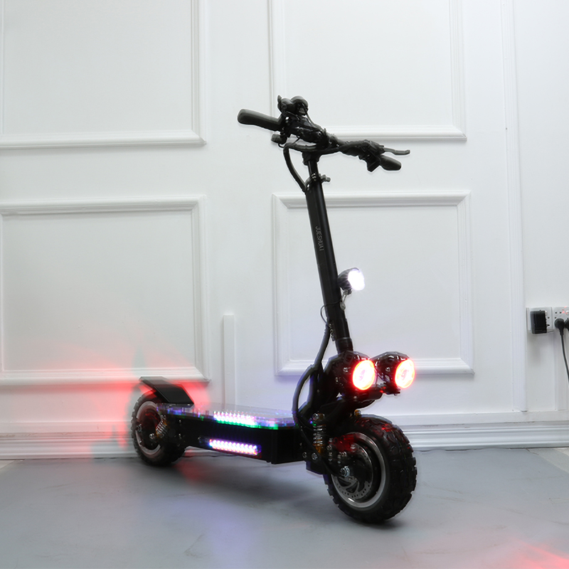Electric scooter double drive 60V 3200W with seat 11inch Off Road KickScooter Strong powerful new fold hoverboad bike scooters