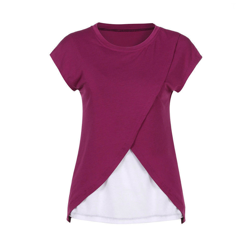 Nursing Top Breastfeeding Loose Casual Short Sleeve Women Summer for Feeding Maternity Pregnancy Clothes S XXL Pregnant Nursing in Tees from Mother Kids