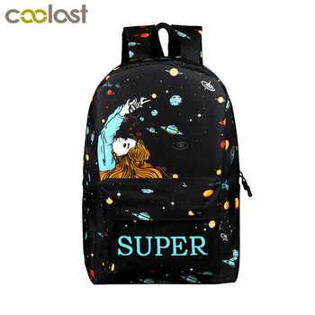 Fashion cartoon print backpack for teenager boys girls children school bags student bookbag kids school backpacks gift - DISCOUNT ITEM  50 OFF Luggage & Bags