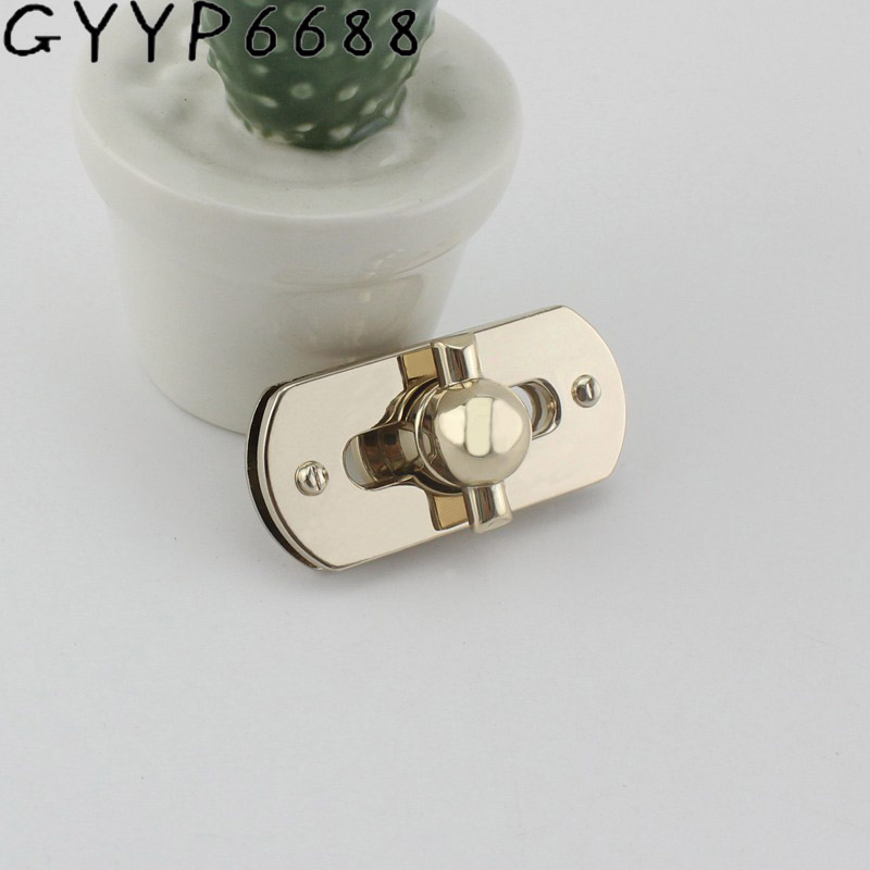 50*22mm 5sets Hight Qulity Free Shipping Decorate Square Lock For Bags Handbags Hardware Accessories Leather Twist DIY