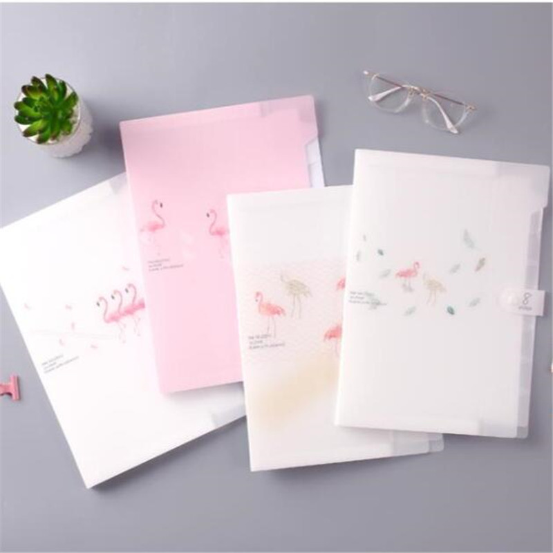 Plastic Folder Holder Waterproof Document Bag Organizer A4 Filing Products Storage File Folders For School Office Supply
