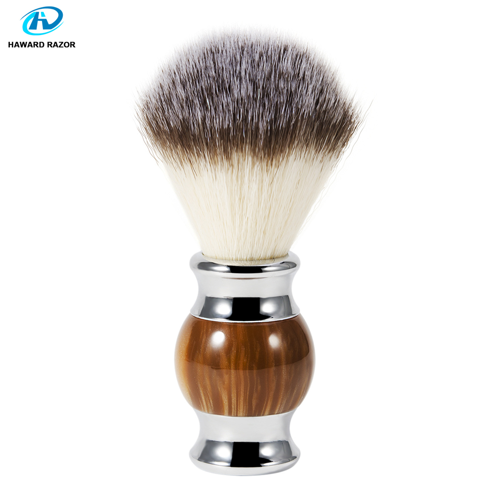 HAWARD Synthetic (nylon) Hair Shaving Brush Agate Resin Beard Brush Shaving Soap Brush Soft Hair Mens Facial Wet Shave Brush