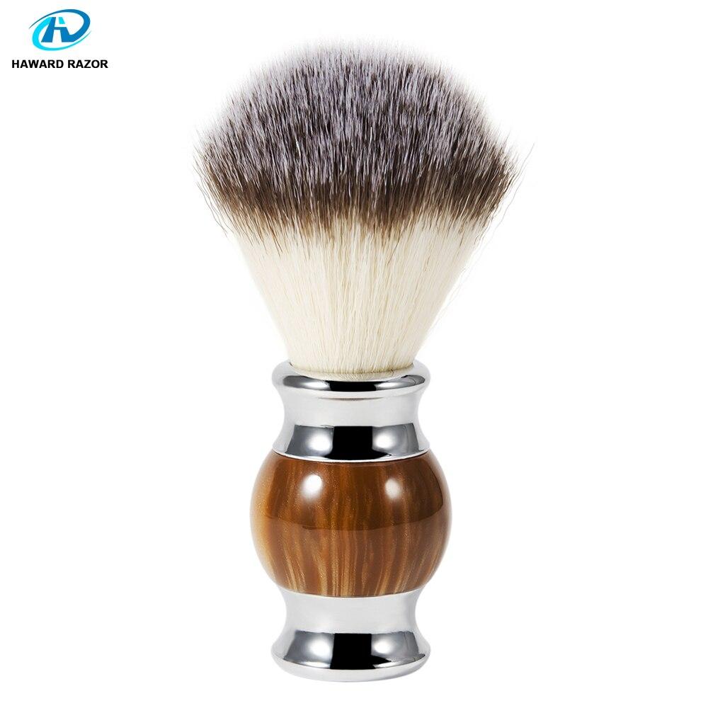 HAWARD Synthetic (nylon) Hair Shaving Brush Agate Resin Beard Brush Shaving Soap Brush Soft Hair Mens Facial Wet Shave Brush