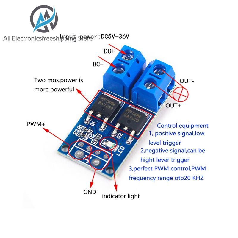 15A 400W MOS FET Trigger Switch Drive Module PWM Regulator Control Panel|Motor Driver|   - AliExpress