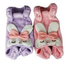 Shirt Dog-Overalls Coat Rompers Jumpsuit Pajamas Pet-Outfit Soft-Fleece Winter Cute Garment