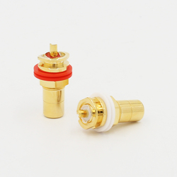 24K Gold Plated RCA Jack RCA Terminal Sockets Gold Plated jack 4pcs