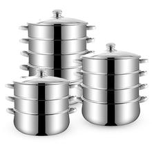 10-45Litre двойные котлы Пароварка на пару 3-5 Пароварка горшок для пищевых продуктов Индукционная посуда из нержавеющей стали Inox