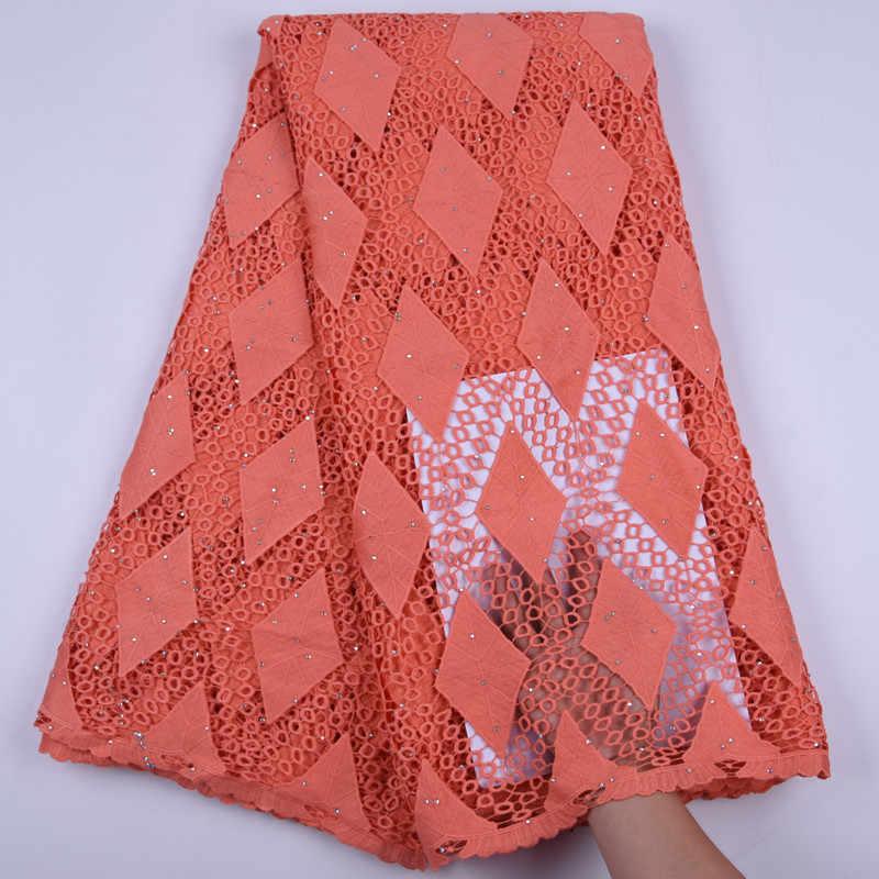 5 ярдов Красный гипюровый шнур кружево Высокое качество Африканский водорастворимый шнур ткань превосходное нигерийское шнур кружевная свадебная ткань шитье A1708