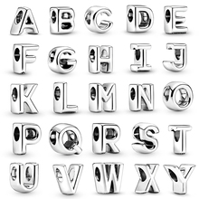 BAOPON 2Pcs/lot 26 English Letters Charm Beads Fit Original Brand Bracelets Necklaces For Women Jewelry Accessories Gift
