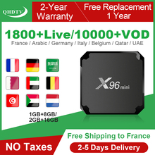 цена на IPTV France QHDTV X96 MINI Android 7.1 Smart IPTV Box 1 Year IPTV Subscription Code Netherlands Arabic Belgium French IP TV
