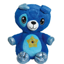 Toy Plush-Toy Animal Stuffed with Light-Projector in Belly-Comforting Night-Light Cuddly