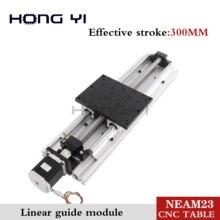 Лучшие цены! Линейные модули эффективный ход 300 мм линейные направляющие SBR16 шариковый винт NEMA 23 шаговый двигатель для ЧПУ стол