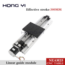 Best prices !! Linear Modules effective stroke 300mm Ball screw SFU1605 Linear Guides NEMA 23 stepper motor for CNC table