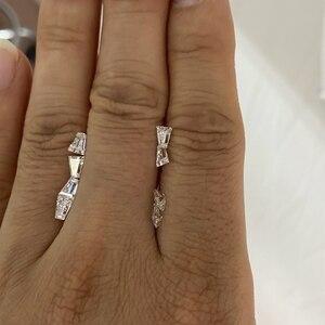2 pièces laboratoire moissanite diamant pierres précieuses en vrac 5X4X2mm trapèze coupe blanc Moissanite pierre moissanite bague en diamant