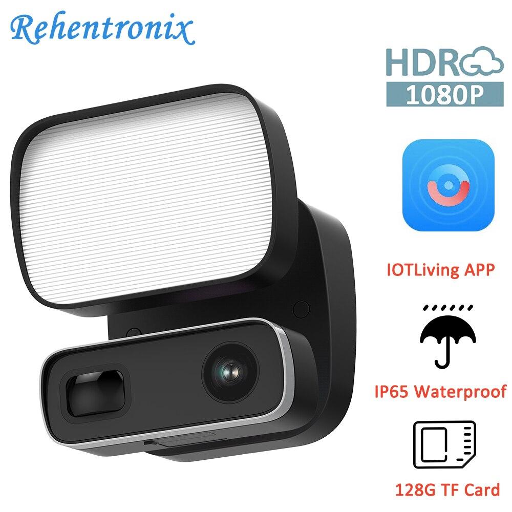 Outdoor 1080P Floodlight Camera Motion Lighting 1000LM 2-Way Talk Siren Color Night Vision Full HD Security CCTV Camera