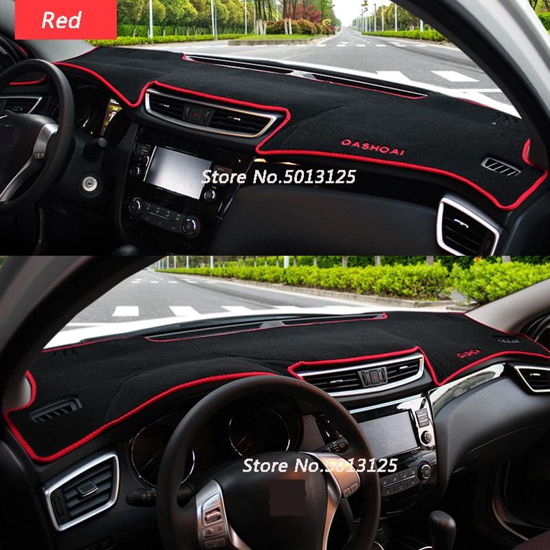 OPisuda polyester Non-slip Car Dashboard Cover Dash Mat For Nissan Qashqai J11 2014 2015 2016 2017 2018 RHD