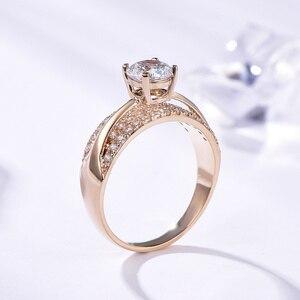 Image 4 - Kuololit 10K 14K or jaune 100% naturel Moissanite pierres précieuses anneaux pour les femmes à la main anneaux de fiançailles mariée cadeau beaux bijoux