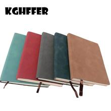 A6 Pocket Portable Notepad Sheepskin Leather Notes 80 Sheets / 160 Pages Diary Nature Colorful Life Daily Notes Good Portable