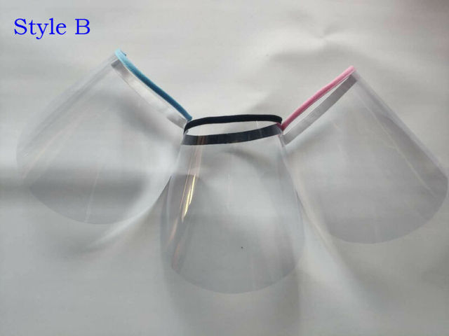 Face Shield Transparent Cap Anti-Spitting Protective Cover Saliva-proof Dust-proof Safe Hat 5