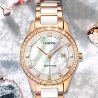 Switzerland Women Watches Luxury Brand Calender Display Japan Citizen Quartz Female Watches Women's Clock Sapphire Lady Gift