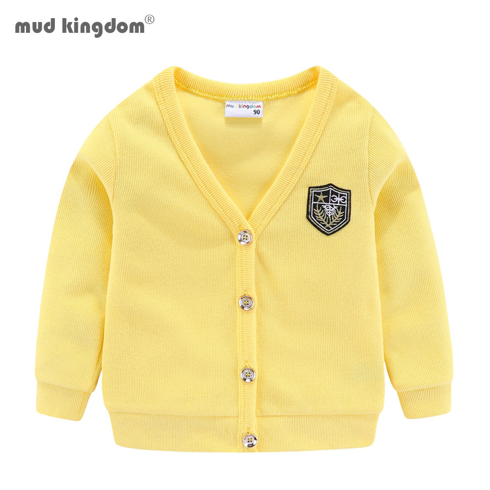 Dark Blue Striped Boys Girls Knitted Cardigan Sweater Fashion New Cotton Children Jacket Outerwear Clothes Casual Warm Kids Coat