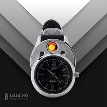 Мужские часы зажигалка с usb зарядкой беспламенная модная ветрозащитная