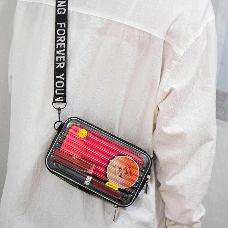 Nữ 2020 Nhựa PVC Trong Suốt Túi Mới Vali Hình Tất Cao Cổ Thời Trang Mini Túi Hành Lý Phụ Nữ Nổi Tiếng Clutch Nhỏ Túi Đeo Vai