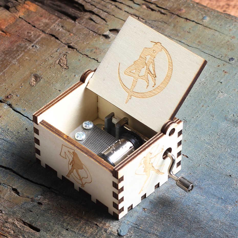 ไม้โบราณมือ Crank LA CASA DE PAPEL Bella CIAO เพลงกล่อง Queen เกม Of Thrones รักแม่พ่อเพลงกล่องคริสต์มาสของขวัญ