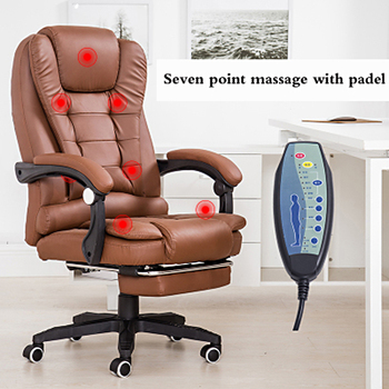 Office Boss Chair Ergonomic Computer Gaming Chair Internet Cafe Seat Household Reclining Seven-point Massage Chair With Footrest