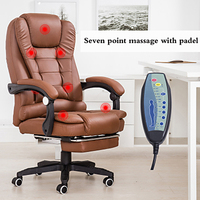 Office Boss Chair Ergonomic Computer Gaming Chair Internet Cafe Seat Household Reclining Seven point massage Chair With Footrest
