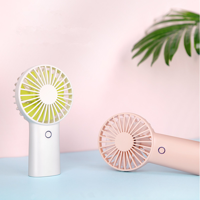 4000mah Portable Mini Fan 3 Gears LED Light USB Rechargeable Handheld Fans Desktop Air Cooling Conditioner for Home Outdoors,Sky Blue