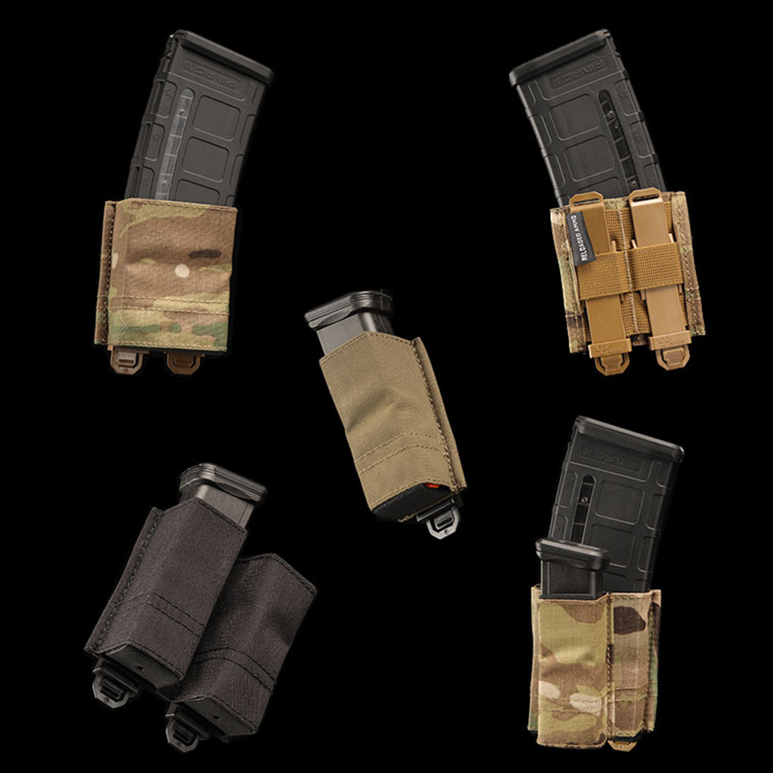 RELOADED תחמושת/RA ESSTAC KYWI טקטי ציד מהיר שחרור Mag פאוץ עבור חיצוני Airsoft- BK