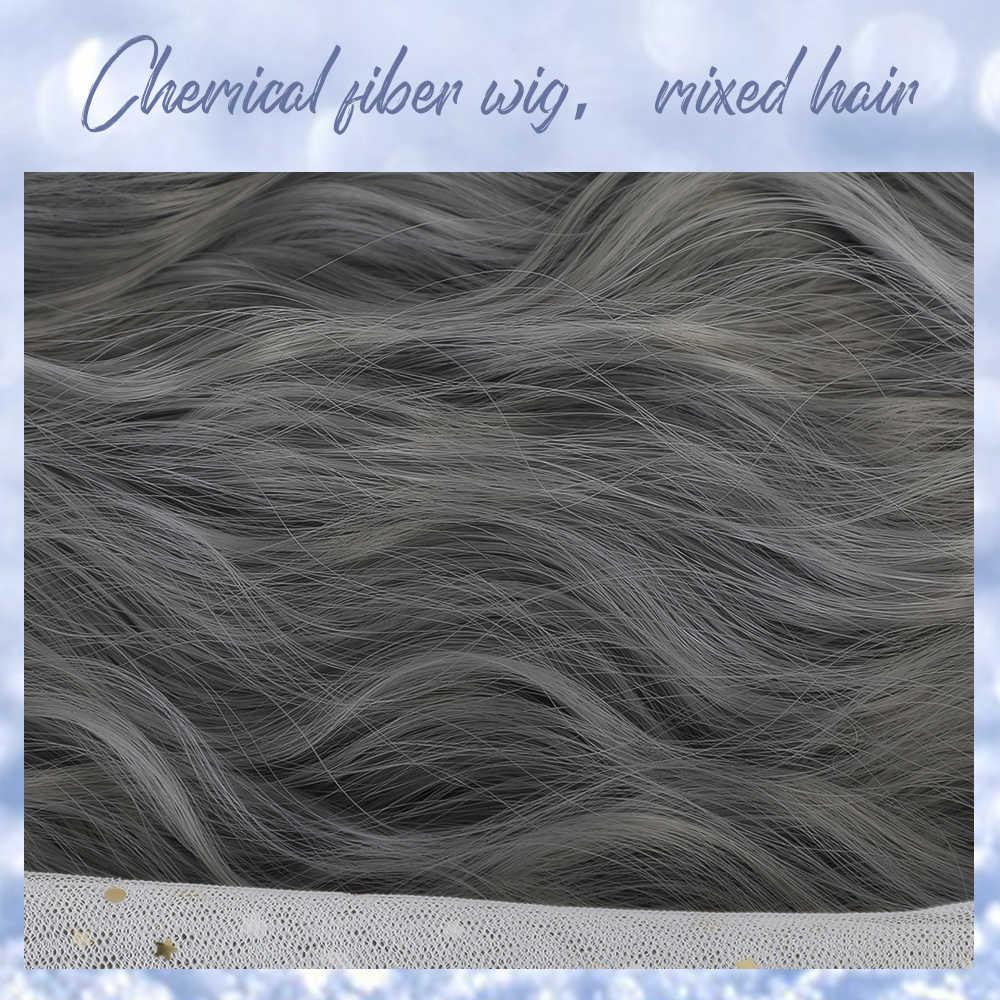 Inhaircube largo profundo cuerpo onda mujeres sintético falso cuero cabelludo peluca Ombre Natural mezclado pelo con flequillo personalidad estilo Popular
