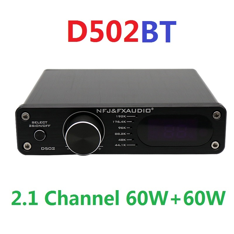 2020 Новый цифровой усилитель мощности аудиосигнала FX-Audio D502BT 2,1 каналов Выход сабвуфера Высокая мощность 60 Вт + 60 Вт пульт дистанционного упра...