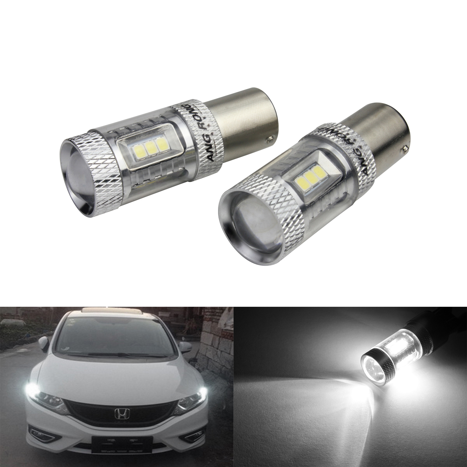 2x Bulbs P21W Ba15s Reverse LED Bright White 6000K Canbus Mini Cooper R56 06-10