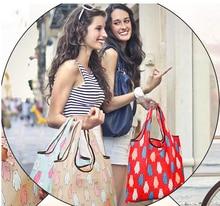2019 New Foldable Storage Bag Women's Foldaway Shopper Bag Ladies Reusable Shopping Bag Eco Tote Folding Bag